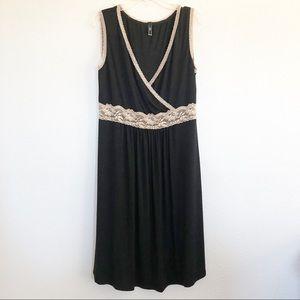 Baju Black Dress w Lace Detail Sz XL